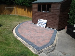 SPA paving landscaping project - Block paved