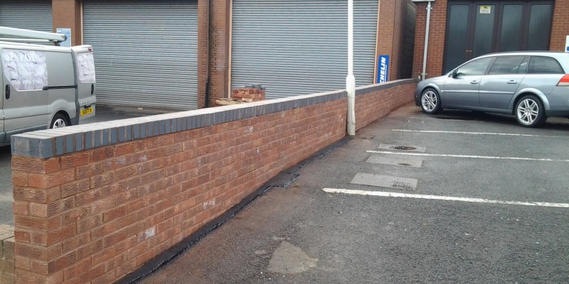 SPA paving - wall installation worcester