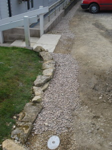 Drainage project - Commercial french drains