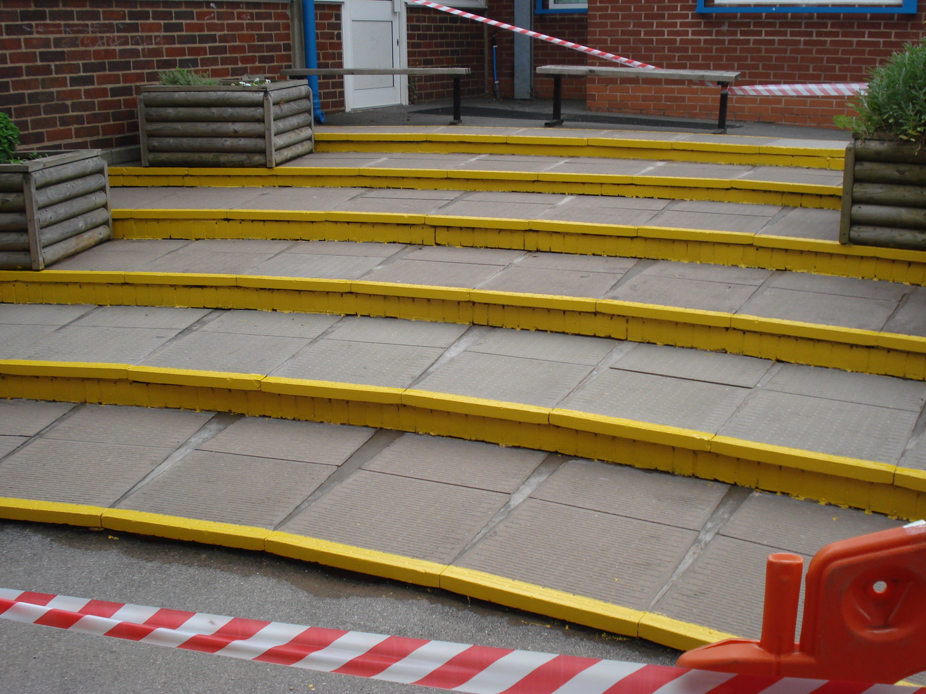 spa paving - school safety steps