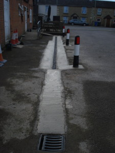 Drainage project -SPApaving - Commercial aco installation